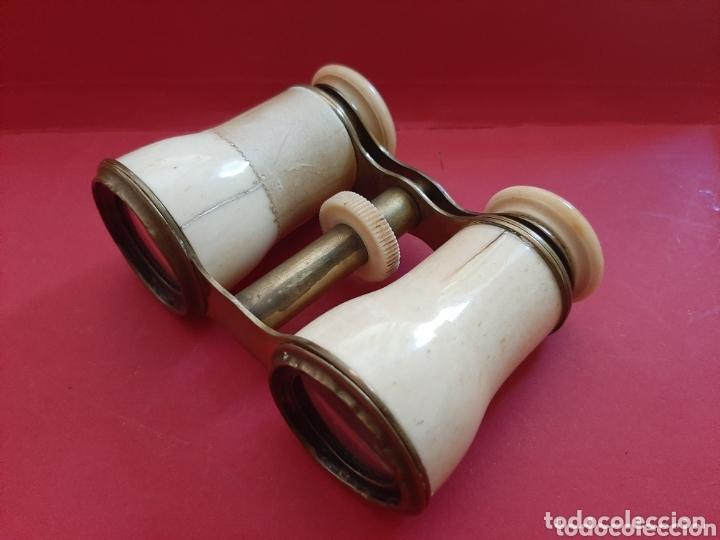 Antigüedades: BINOCULAR DE METAL Y PASTA - Foto 3 - 173905727