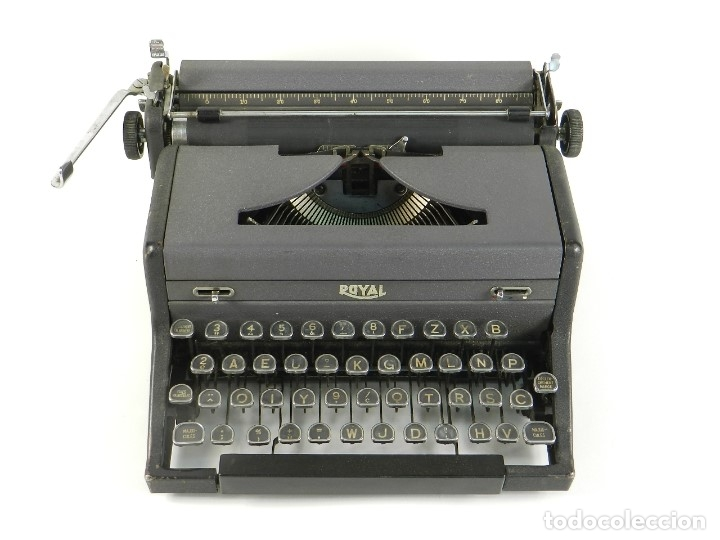 Antigüedades: MAQUINA DE ESCRIBIR ROYAL ARROW AÑO 1942 TYPEWRITER SCHREIBMASCHINE - Foto 3 - 173923282