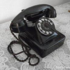 Teléfonos: TELÉFONO DE MESA SOBREMESA ALEMÁN ANTIGUO BAQUELITA DE DISCO AÑO FABRICACIÓN 1920 / 1930 Y FUNCIONA. Lote 173926929