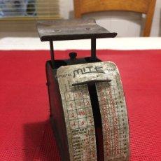 Antigüedades: BASCULA AÑOS 50 - MITE - BASCULA POSTAL - B-T COMPANY MILWAUKEE 2 - WIS.. Lote 173936628