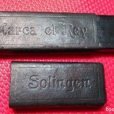 Antigüedades: CAJA VACIA O ESTUCHE ORIGINAL NAVAJA AFEITAR MARCA EL REY SOLINGEN. 14. STRAIGHT RAZOR, BOX, RASOIO. Lote 173983634