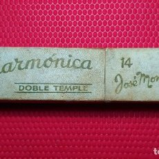 Antigüedades: CAJA VACIA O ESTUCHE ORIGINAL NAVAJA AFEITAR FILARMONICA DOBLE TEMPLE 14. STRAIGHT RAZOR, BOX,. Lote 173985189