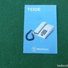 Teléfonos: MANUAL TELÉFONO TEIDE MODELO D DE TELEFÓNICA. Lote 174023172
