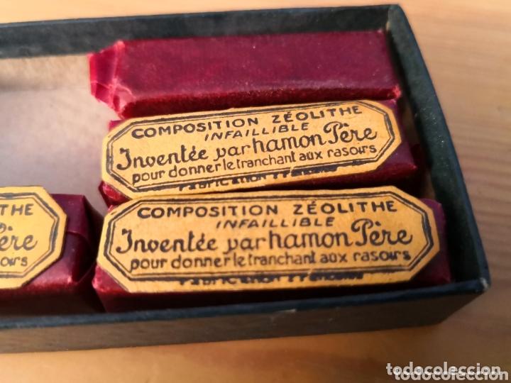 Antigüedades: Antigua caja composition zeolite para afilar - Foto 4 - 174029832