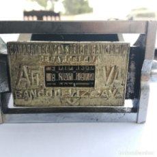 Antigüedades: TAMPÓN SELLO BANCO DE VIZCAYA FECHADOR 1970 A1989AG VA CÁMARA DE COMPENSACIÓN BANCARIA DE BARCELONA. Lote 174037042