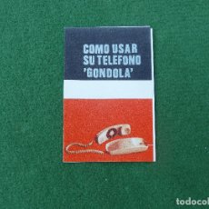 Teléfonos: MANUAL TELÉFONO GONDOLA SOBREMESA. Lote 174059357
