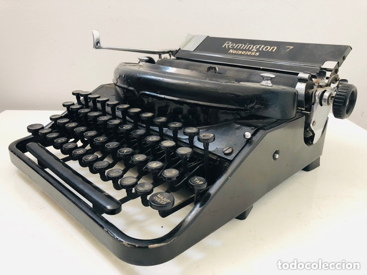 Antigüedades: Remington 7 Noiseless Typewriter - Foto 8 - 174092199