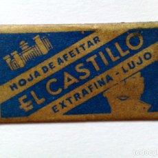 Antigüedades: HOJA DE AFEITAR ANTIGUA,EL CASTILLO EXTRAFINA-LUJO,VILLAFRANCA DEL PANADES. Lote 174150302