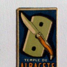 Antigüedades: HOJA DE AFEITAR ANTIGUA,TEMPLE DE ALBACETE. Lote 174151074