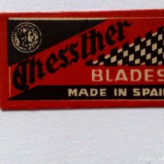 Antigüedades: HOJA DE AFEITAR ANTIGUA,CHESSTER BLADES,MADE IN SPAIN. Lote 174151489