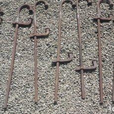 Antigüedades: 7 GRANDES SARGENTOS PARA TRABAJOS DE ENCOFRAJE. Lote 174229809