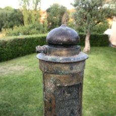 Antigüedades: LINTERNA DE ACEITE, FERROCALILES ESPAÑOLES. Lote 174275162