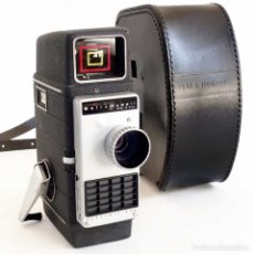 Antigüedades: CAMARA CINE BELL & HOWELL ELECTRIC EYE. A CUERDA CON FUNDA ORIGINAL USA1958. Lote 174282327
