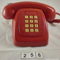 Teléfonos: ANTIGUO TELEFONO ROJO DE TECLAS MODELO HERALDO CITESA MALAGA. Lote 174311462