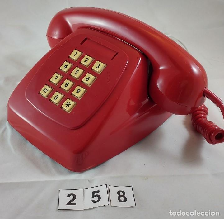 Teléfonos: ANTIGUO TELEFONO ROJO DE TECLAS MODELO HERALDO CITESA MALAGA - Foto 2 - 174311462