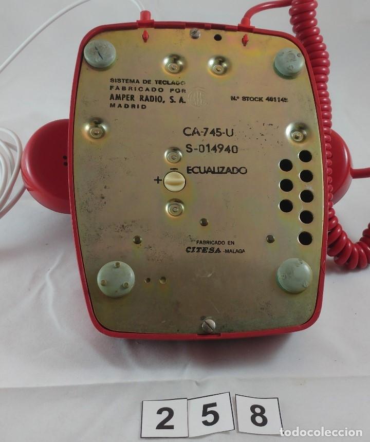 Teléfonos: ANTIGUO TELEFONO ROJO DE TECLAS MODELO HERALDO CITESA MALAGA - Foto 4 - 174311462