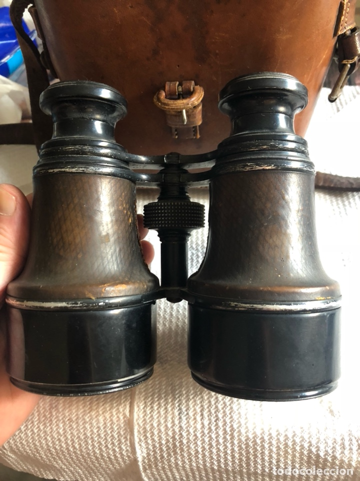 Antigüedades: Bonitos binoculares antiguos, en su estuche - Foto 3 - 174440198
