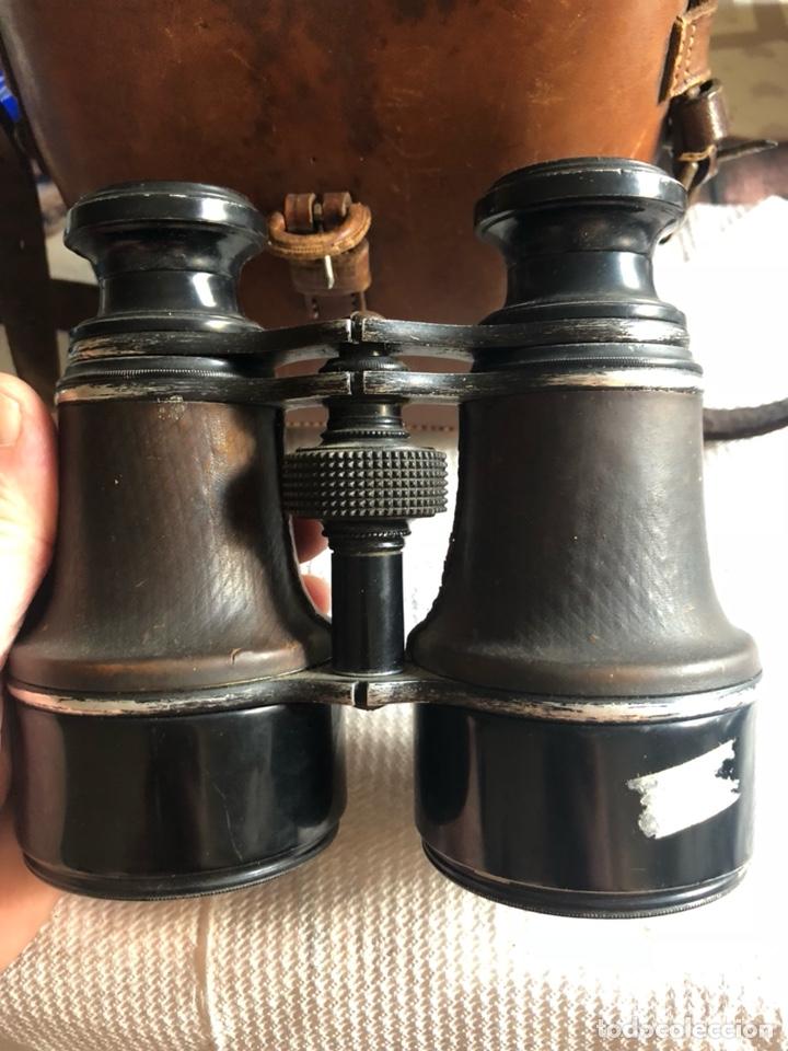 Antigüedades: Bonitos binoculares antiguos, en su estuche - Foto 4 - 174440198