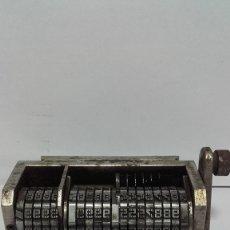 Antigüedades: NUMERADOR TIPOGRAFIA DE 7,5 CMS. Lote 174490488