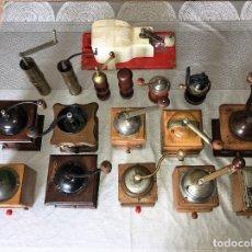 Antigüedades: 17 MOLINO MOLINILLO DE CAFE, PIMIENTA Y SALERO, FIRMAS LEINBROCKS JDEAL, ZASSENHAUS, PETER DIENES.... Lote 174505680