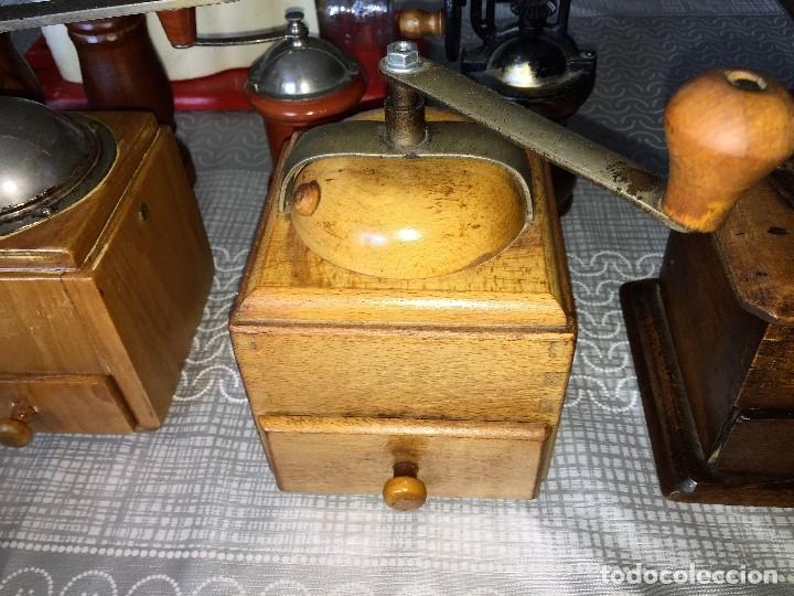 Antigüedades: 17 Molino Molinillo de cafe, pimienta y salero, firmas Leinbrocks Jdeal, Zassenhaus, Peter Dienes... - Foto 12 - 174505680