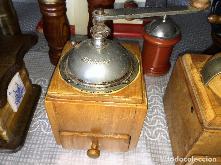 Antigüedades: 17 Molino Molinillo de cafe, pimienta y salero, firmas Leinbrocks Jdeal, Zassenhaus, Peter Dienes... - Foto 13 - 174505680