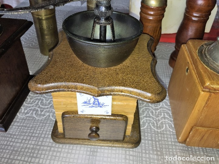 Antigüedades: 17 Molino Molinillo de cafe, pimienta y salero, firmas Leinbrocks Jdeal, Zassenhaus, Peter Dienes... - Foto 14 - 174505680