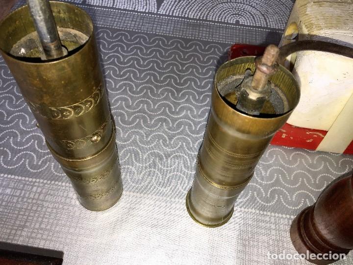Antigüedades: 17 Molino Molinillo de cafe, pimienta y salero, firmas Leinbrocks Jdeal, Zassenhaus, Peter Dienes... - Foto 16 - 174505680