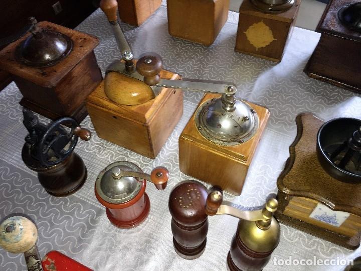 Antigüedades: 17 Molino Molinillo de cafe, pimienta y salero, firmas Leinbrocks Jdeal, Zassenhaus, Peter Dienes... - Foto 21 - 174505680