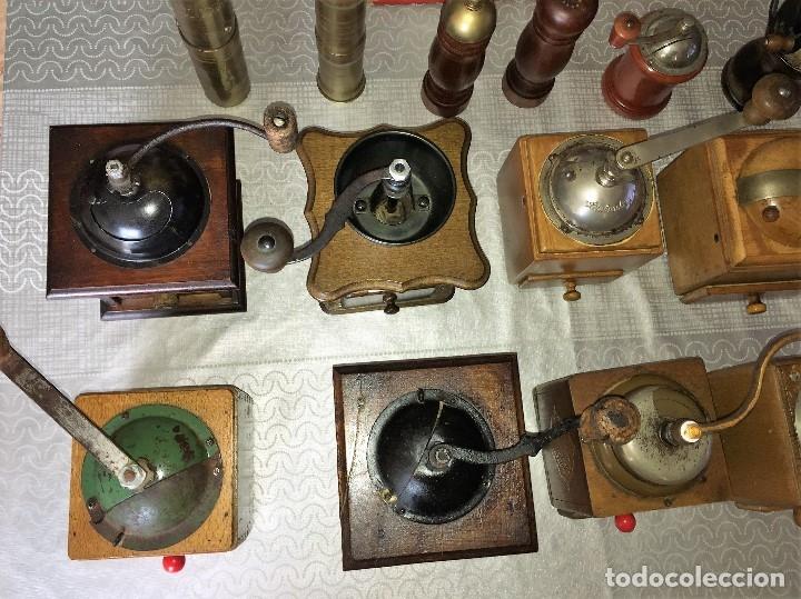 Antigüedades: 17 Molino Molinillo de cafe, pimienta y salero, firmas Leinbrocks Jdeal, Zassenhaus, Peter Dienes... - Foto 22 - 174505680