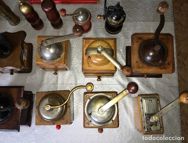 Antigüedades: 17 Molino Molinillo de cafe, pimienta y salero, firmas Leinbrocks Jdeal, Zassenhaus, Peter Dienes... - Foto 23 - 174505680