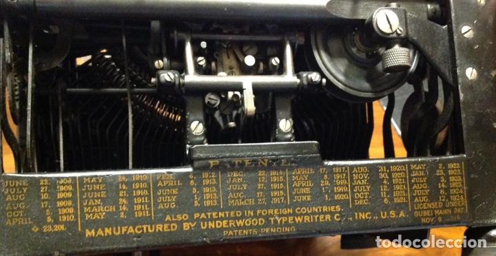 Antigüedades: Maquina de escribir UNDERWOOD. Revisada, funcionando (Made in USA, 1924) - Foto 3 - 174605562