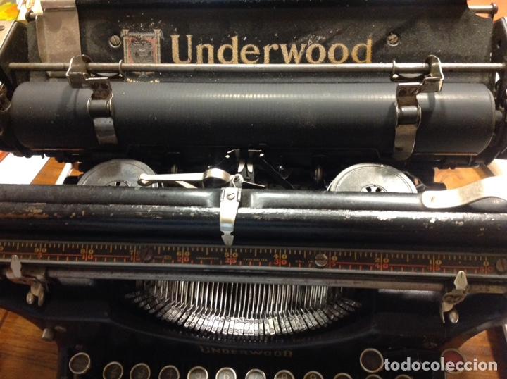 Antigüedades: Maquina de escribir UNDERWOOD. Revisada, funcionando (Made in USA, 1924) - Foto 4 - 174605562