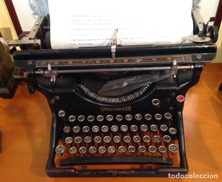 MAQUINA DE ESCRIBIR UNDERWOOD. REVISADA, FUNCIONANDO (MADE IN USA, 1924) (Antigüedades - Técnicas - Máquinas de Escribir Antiguas - Underwood)