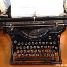 Antigüedades: MAQUINA DE ESCRIBIR UNDERWOOD. REVISADA, FUNCIONANDO (MADE IN USA, 1924). Lote 174605562