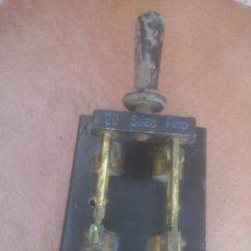Antigüedades: ANTIGUO INTERRUPTOR TRIFASICO MARCA SILEX DE PIZARRA 20 AMP. Lote 174612210