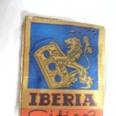 Antigüedades: CAJA HOJAS DE AFEITAR. IBERIA. 10 X 10. VER FOTOS.. Lote 174924608