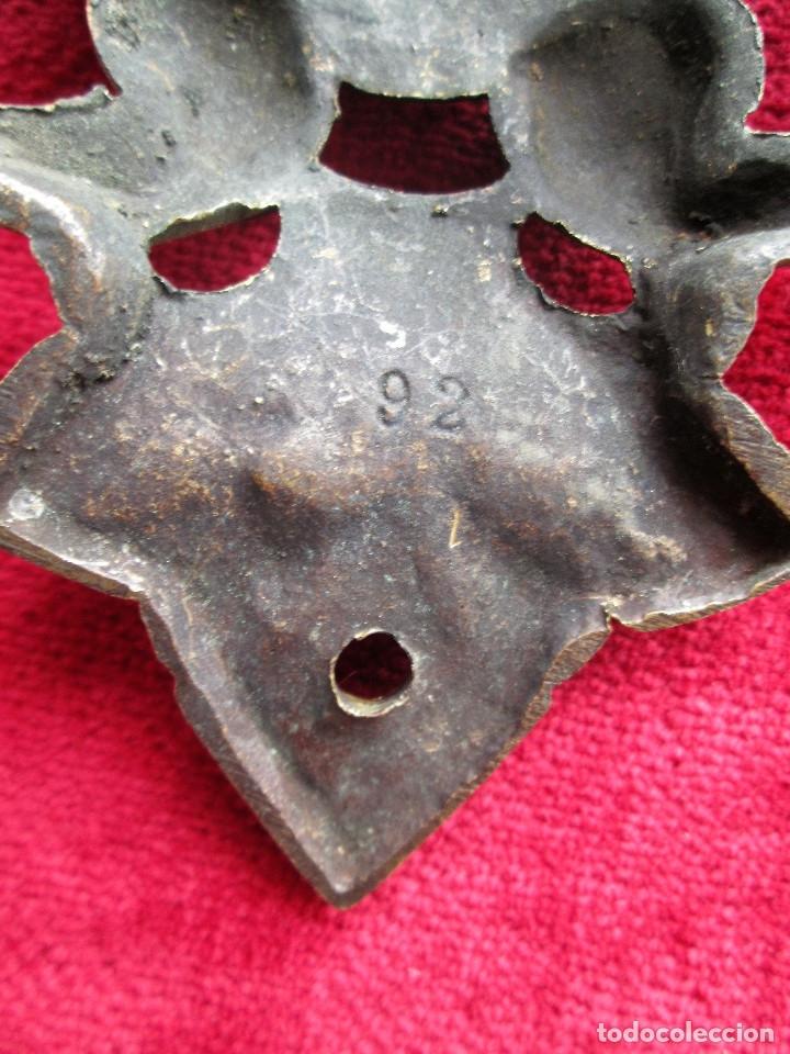Antigüedades: EMBELLECEDORES DE BRONCE PARA RESTAURAR MUEBLE ANTIGUO - 2 TIRADORES - Foto 5 - 174964645