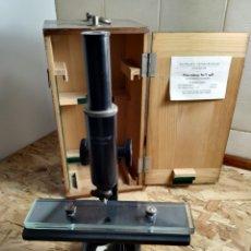 Antigüedades: MICROSCOPIO PAUL WAECHTER ALEMANIA. Lote 175020745