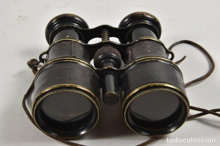 Antigüedades: ANTIGUS PRISMATICOS BINOCULARES FABRICADOS EN 1900 PRIMERA QUERRA MUNDIAL PRECIOSOS Y PERFECTOS - Foto 7 - 175040294