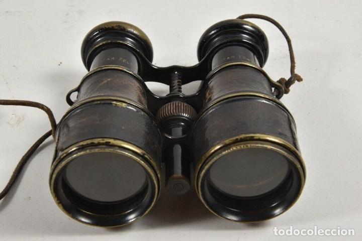ANTIGUS PRISMATICOS BINOCULARES FABRICADOS EN 1900 PRIMERA QUERRA MUNDIAL PRECIOSOS Y PERFECTOS (Antigüedades - Técnicas - Instrumentos Ópticos - Prismáticos Antiguos)