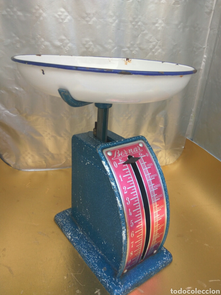 ANTIGUA BALANZA PESO BERNAR 10 KGS.VER FOTOS Y DESCRIPCIÓN (Antigüedades - Técnicas - Medidas de Peso - Balanzas Antiguas)