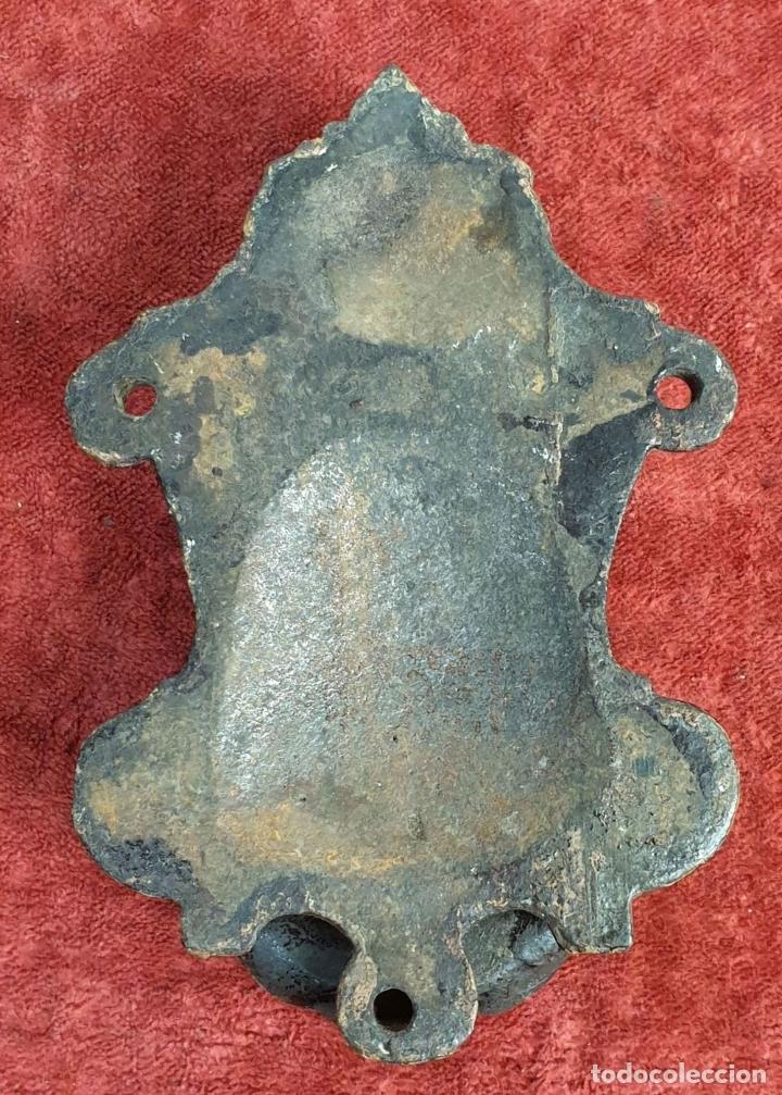 Antigüedades: ALDABA O GOLPEADOR DE PUERTA. HIERRO FORJADO. PRINCIPIOS SIGLO XX. - Foto 7 - 175110614