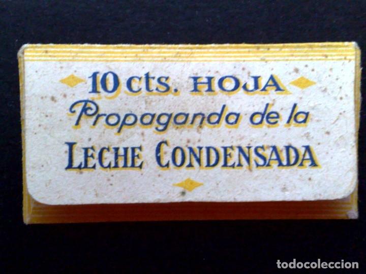 Antigüedades: HOJA DE AFEITAR ANTIGUA,SOLDOR,PESTAñAS ¡¡ 10 CTS.HOJA !! Y PROPAGANDA LECHE CONDENSADA.(RARISIMO) - Foto 2 - 175180662