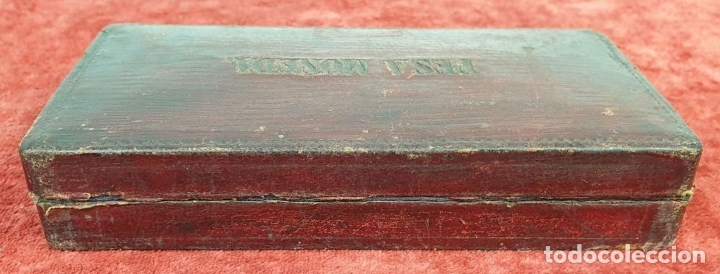 Antigüedades: BALANZA DE PRECISIÓN. KILATERA. BRONCE Y LATÓN. CAJA ORIGINAL. SIGLO XX. - Foto 7 - 175182372