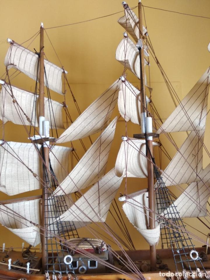 Antigüedades: Precioso barco en madera, echo íntegramente a mano, solo recogida - Foto 2 - 175189615