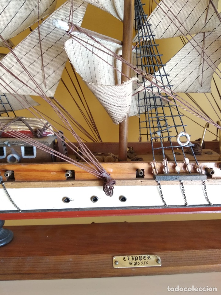 Antigüedades: Precioso barco en madera, echo íntegramente a mano, solo recogida - Foto 3 - 175189615