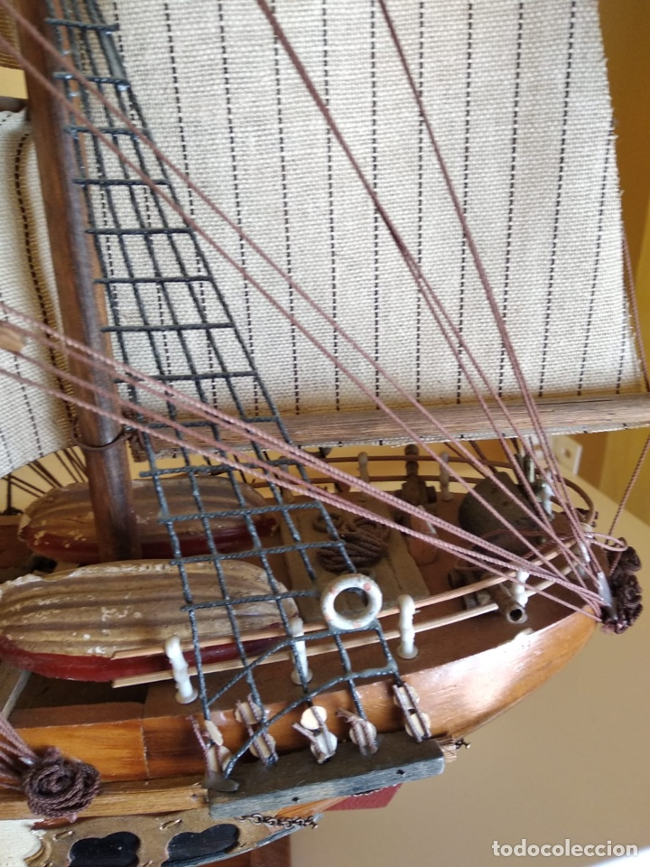 Antigüedades: Precioso barco en madera, echo íntegramente a mano, solo recogida - Foto 4 - 175189615