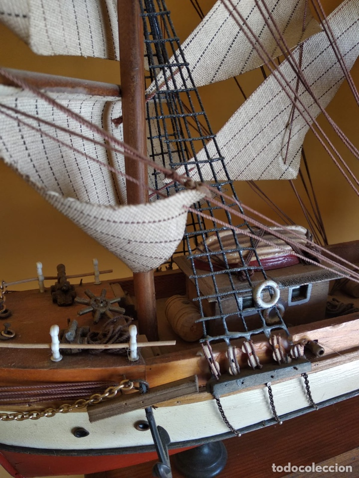 Antigüedades: Precioso barco en madera, echo íntegramente a mano, solo recogida - Foto 5 - 175189615