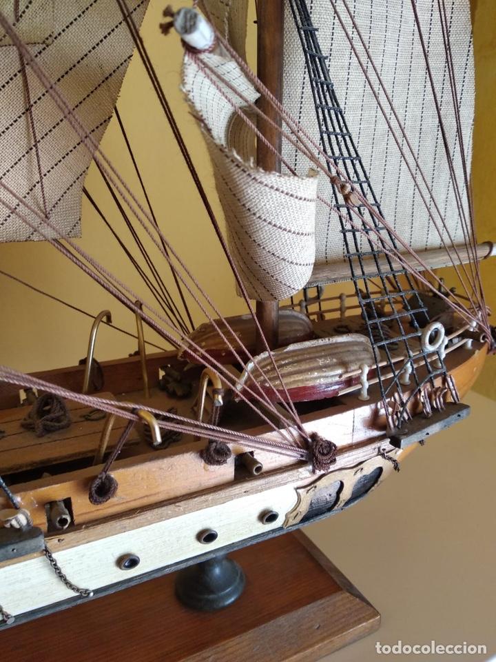 Antigüedades: Precioso barco en madera, echo íntegramente a mano, solo recogida - Foto 6 - 175189615